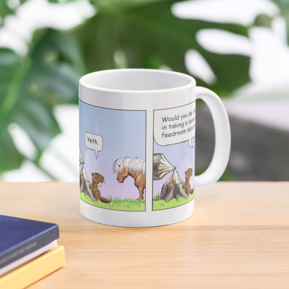 "Fergus the Horse: ""Beaver"" Comic Strip Mug"