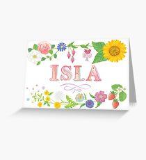 Summer Name - ISLA Greeting Card