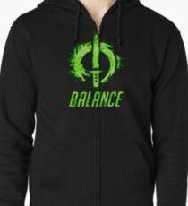 Balance Zipped Hoodie