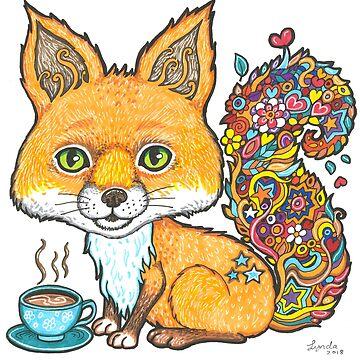 Coffee Fox by LyndaBell