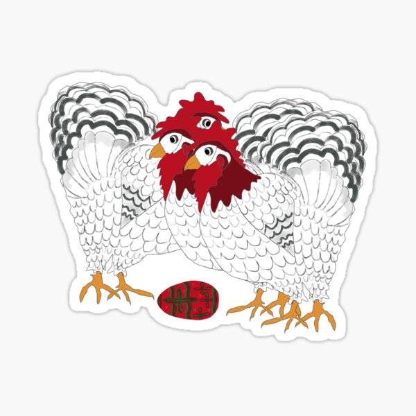 12 Days of Christmas 3 French Hens Sticker