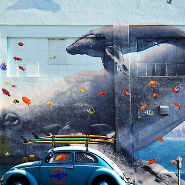BLUE WHALES  AND VOLKSWAGEN BEETLE by theoatman