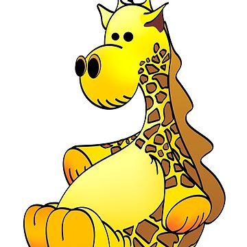 Stuffed Giraffe Cartoon by Graphxpro