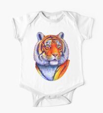Colorful Bengal Tiger One Piece - Short Sleeve