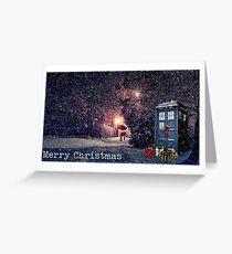 Tardis Christmas card  Greeting Card
