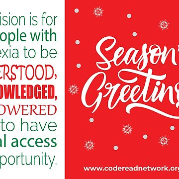 Seasons Greetings - Dyslexia Awareness by CodeRead
