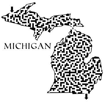 Michigan State Outline Maze & Labyrinth by gorff