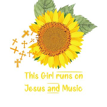 This Girl runs on jesus and Music T-shirt by RithaMatch