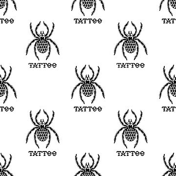 spider illustration traditional tattoo flash seamless doodle pattern by zizimentos