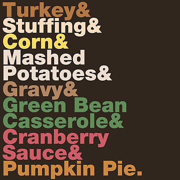 Thanksgiving Helvetica Turkey Dinner Helvetica Name List  by fishbiscuit