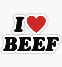 I love beef Sticker