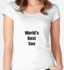 Worlds Best Son Funny Gift Idea For Gag Women's Fitted Scoop T-Shirt