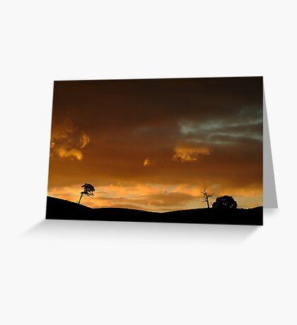 Pyrenees Sunset Greeting Card