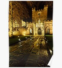 Entrance to Durham Castle Poster