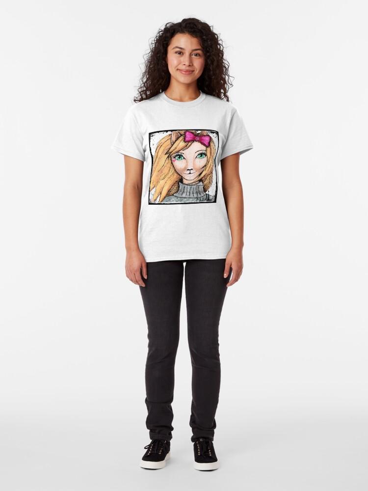 Alternate view of Cat Girl Classic T-Shirt