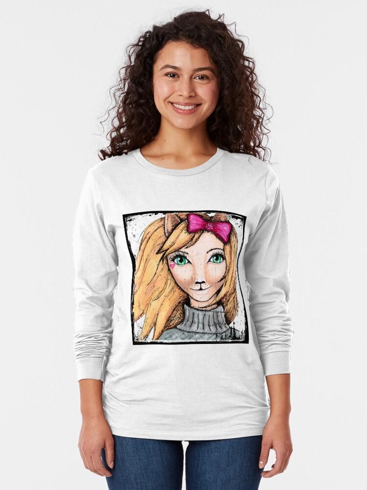Alternate view of Cat Girl Long Sleeve T-Shirt