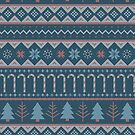 Christmas Sweater in Blue by latheandquill