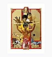 Bruce Lee 5 (Enter the Dragon) Art Print