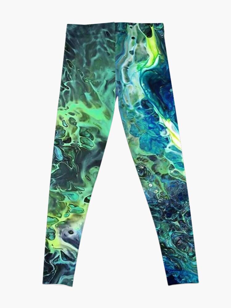 Alternate view of Arcane - Fluid Art/Acrylic Pour Leggings
