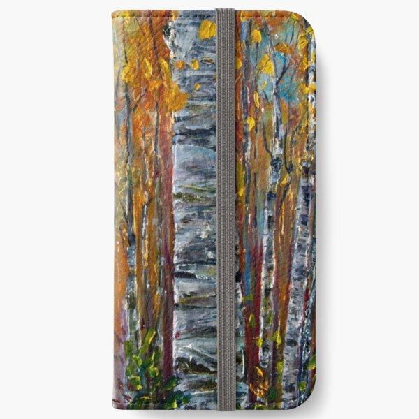 Aspen Trees by OLena Art  iPhone Wallet
