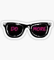 Casey Neistat Sunglasses - DO MORE - Pink Sticker