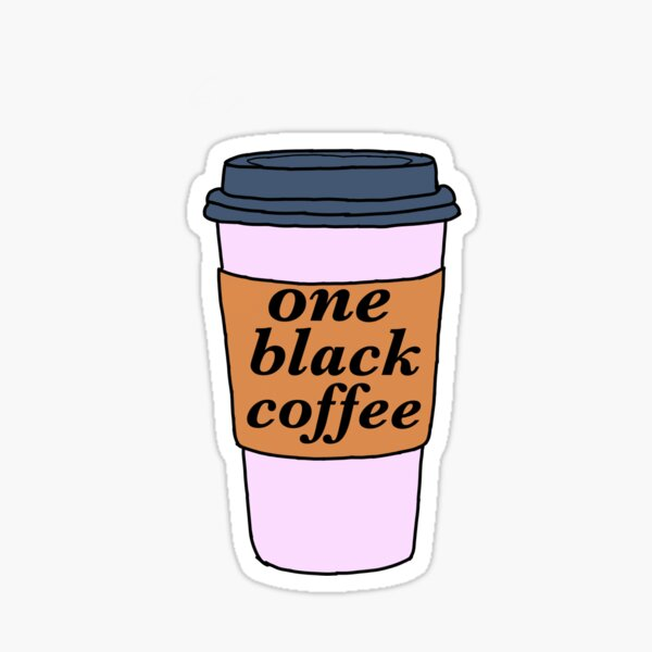 One Black Coffee - John Mulaney Sticker