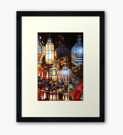Light up your life (Marrakech, Morocco) Framed Print