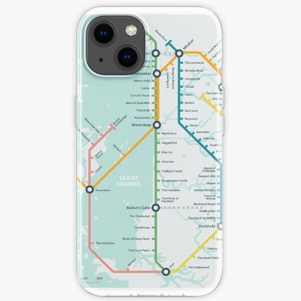 Subway Map - Northwestern Faerûn iPhone Soft Case
