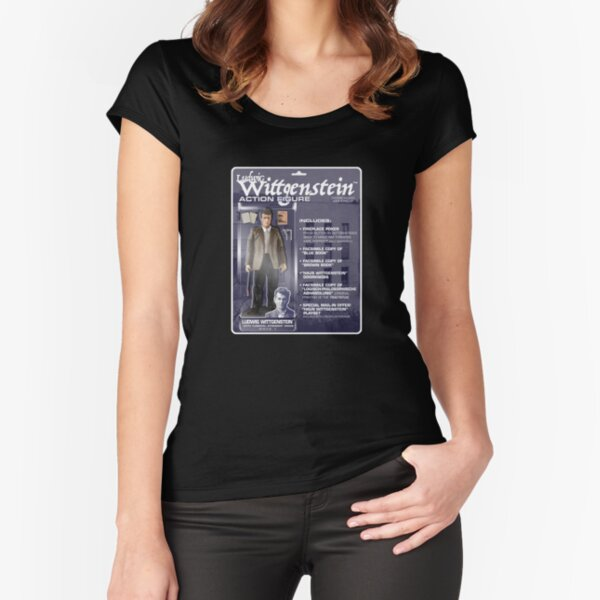 Ludwig Wittgenstein Action FIgure Fitted Scoop T-Shirt