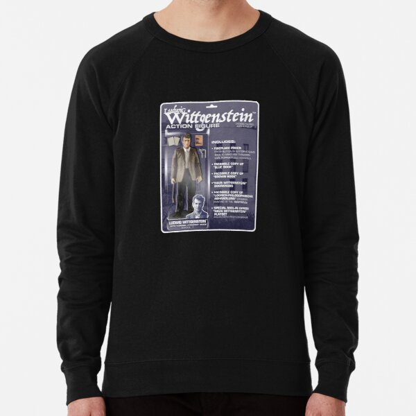 Ludwig Wittgenstein Action FIgure Lightweight Sweatshirt