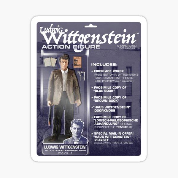 Ludwig Wittgenstein Action FIgure Sticker