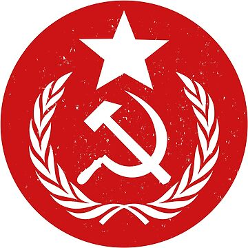 Distressed Round Communist Flag by Chocodole