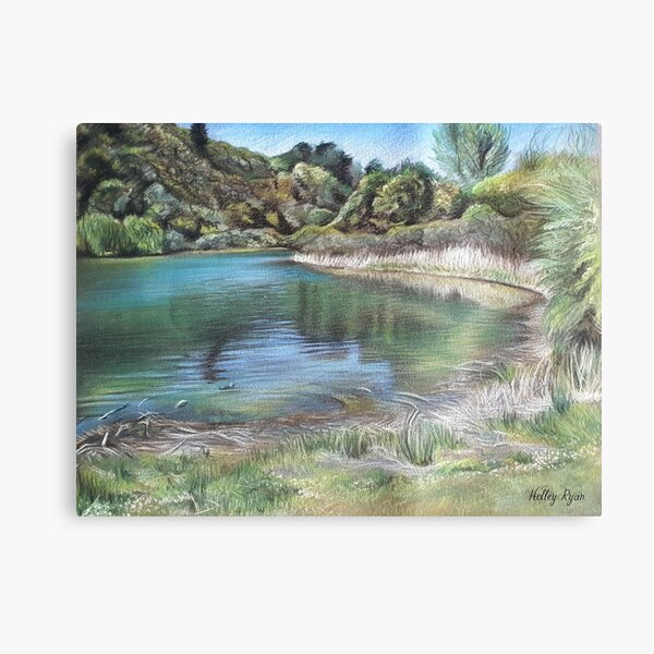 The Valley Lake Canvas Print