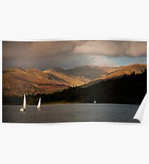 Sailing on Lake Windermere Poster