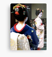 Geisha girls in Kyoto Metal Print