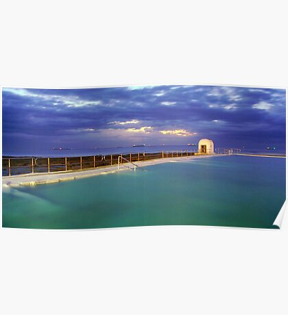 Dawn at Merewether Baths Poster