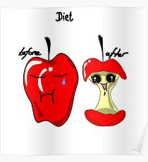 Diet apple Poster