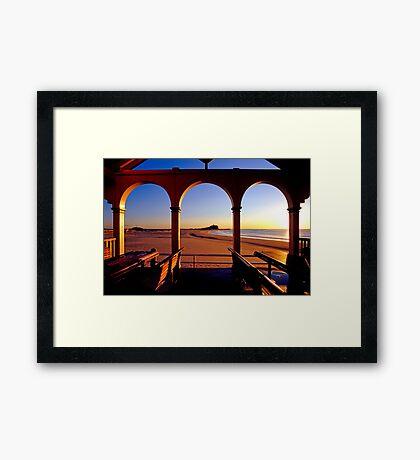Nobbys Sunrise (From Nobbys Beach) Framed Print