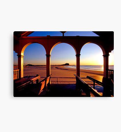 Nobbys Sunrise (From Nobbys Beach) Canvas Print