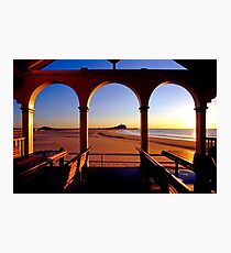 Nobbys Sunrise (From Nobbys Beach) Photographic Print
