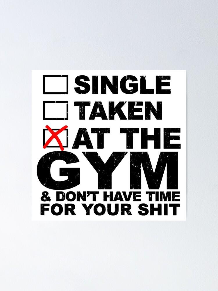 single taken at the gym