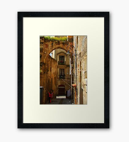 Arch & Stair Series - Washing day Framed Print