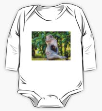 Monkey Mother Love One Piece - Long Sleeve