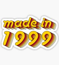 Made in 1999 (Yellow&Red) Sticker