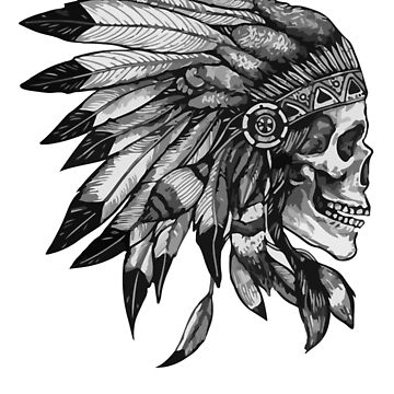 Indian Head Skull by red-rawlo