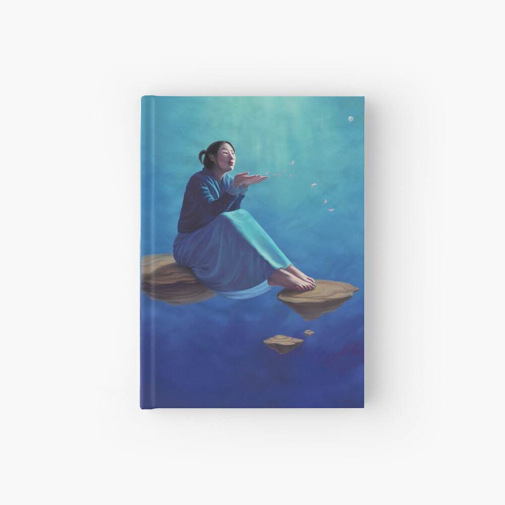 Thoughts Like Rose Petals Hardcover Journal