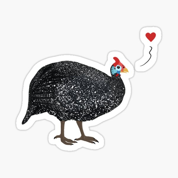 Guinea Fowl love Sticker