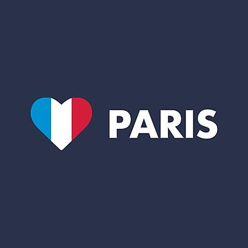 Paris France Flag Heart by lukassfr