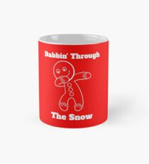 Gingerbread Man Dabbin Through The Snow Mug