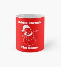 Snowman Dabbin Through The Snow Mug